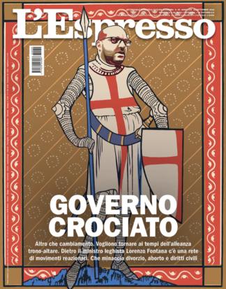 Governo crociato – cover for L'Espresso